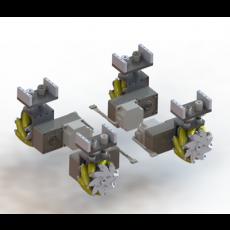 모터일체형 5인치 메카넘휠 모터드라이버 포함 MCRT-I-100 MOTOR MOUNTED MECANUM WHEELS 5INCH INCLUDE IN CONTROLLER (엠티솔루션)