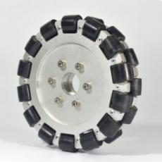MTO-14085/152mm(6인치) 알루미늄+고무 옴니휠 롤러부 부시 삽입형(엠티솔루션)