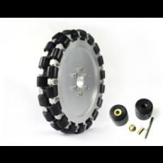 MTO-14124/203mm(8인치) 알루미늄+고무 옴니휠 롤러부 부시 삽입형(엠티솔루션)