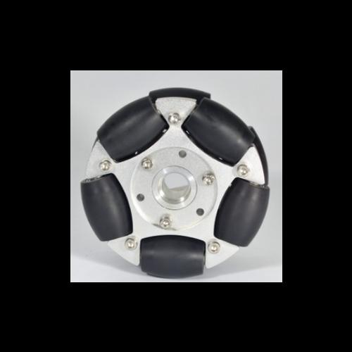 MTO-14146/127mm(5인치) 알루미늄+고무 고중량 옴니휠 롤러부 베어링 삽입형(엠티솔루션)