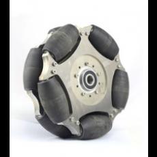 MTO-14147/254mm(10인치) 알루미늄+나일론 옴니휠 롤러부 베어링 삽입형/중심축 베어링 삽입(엠티솔루션)