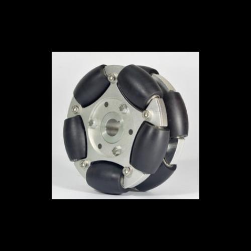 MTO-14153/127mm(5인치) 알루미늄+나일론 옴니휠 롤러부 베어링 삽입형(엠티솔루션)
