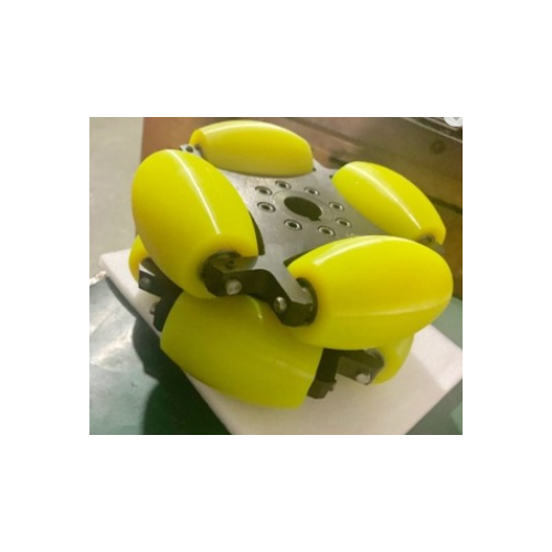 MTO-NW203C/203mm(8인치) 알루미늄+우레탄 고중량 옴니휠 롤러부 베어링 삽입형(엠티솔루션)