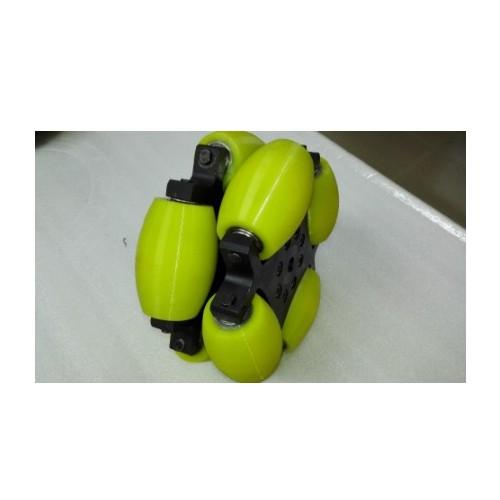 MTO-OW305/305mm(12인치) 알루미늄+우레탄 고중량 옴니휠 롤러부 베어링 삽입형(엠티솔루션)